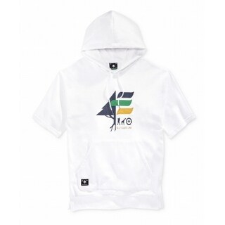 LRG NEW White Navy Men Size XL Timber Stripe Flag Logo Drawstring Hoodie