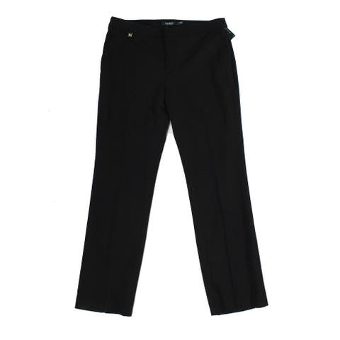Lauren by Ralph Lauren Women's Black Size 2 Dress Pants Wool Stretch