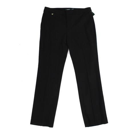 Lauren by Ralph Lauren Women's Pants Black Size 10 Wool Stretch