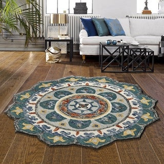 Link to LR Home Sinuous Eclectic Floral Mandala Area Rug Similar Items in Rugs