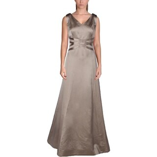 Kay Unger Womens Evening Dress Sleeveless V Neck