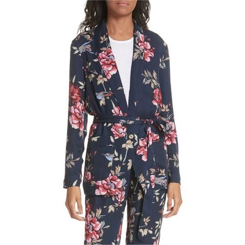 Joie Womens Anasophia One Button Blazer Jacket, Blue, X-Small