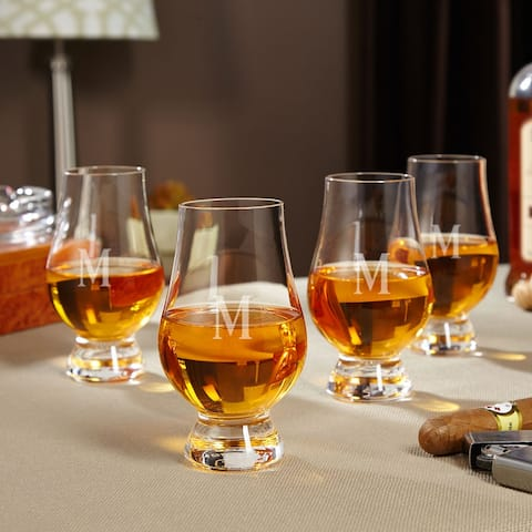 Personalized Glencairn Whiskey Glasses, Set of 4