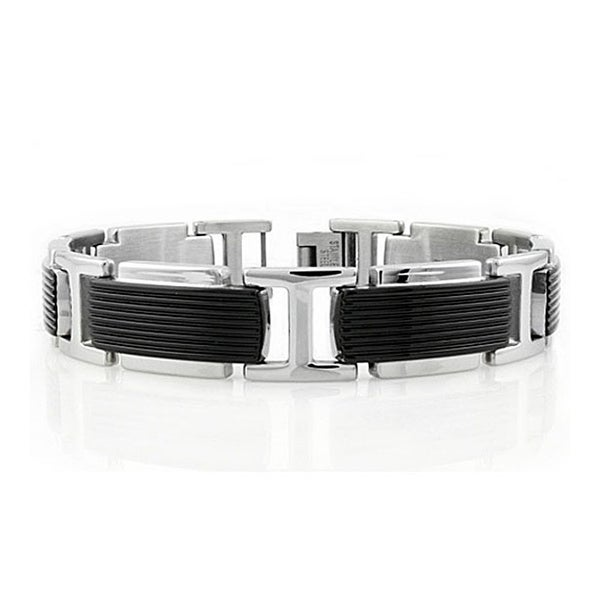 Stainless Steel Men's Link Bracelet - 8 inches