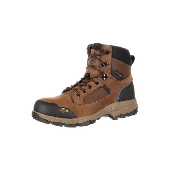Georgia Boot Work Mens Blue Collar Waterproof Hiker Brown
