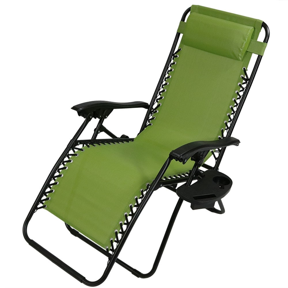 Sunnydaze Zero Gravity Lounge Chair with Pillow and Cup Holder, Multiple Colors Available - Thumbnail 99