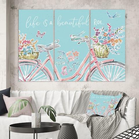 Designart 'Sparrow Spring III Crop' Traditional Canvas Artwork