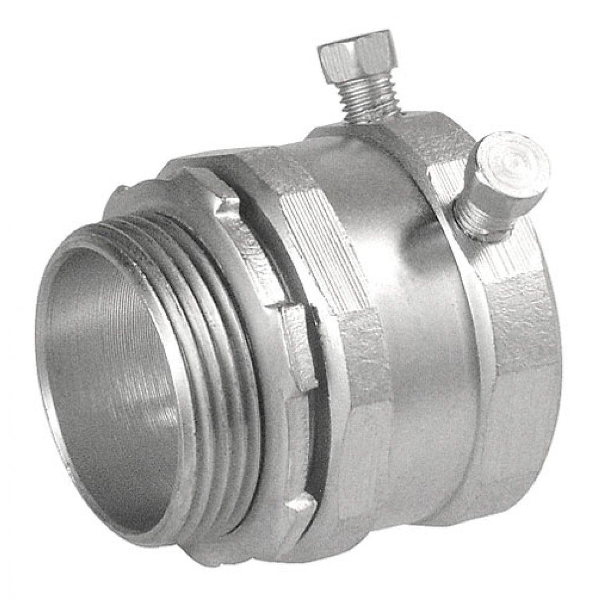 1 Pc, 3-1/2 in. Zinc Plated Steel Set Screw Connector, Steel