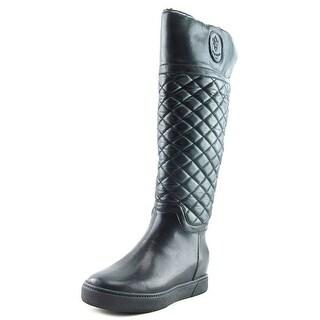 Blondo North Women Round Toe Leather Black Winter Boot