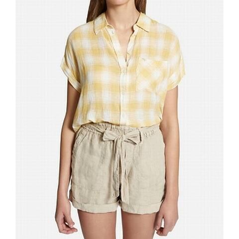 Sanctuary Women's Top Blouse Button Down Shirt Boyfriend
