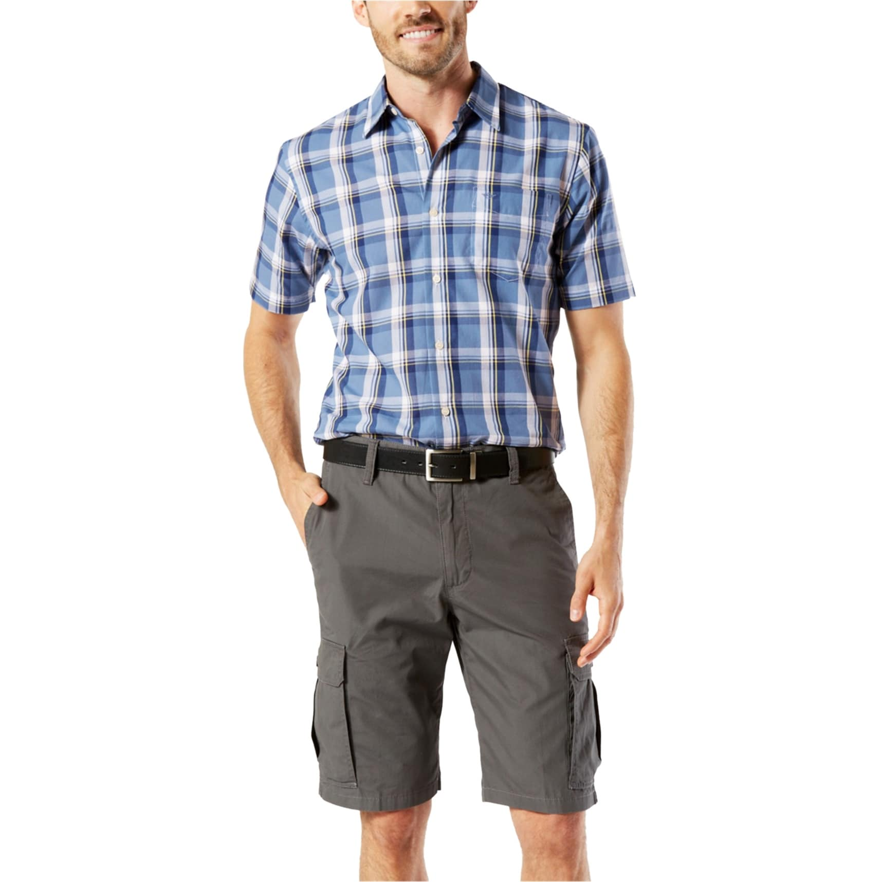 Dockers Mens Twill Casual Cargo Shorts