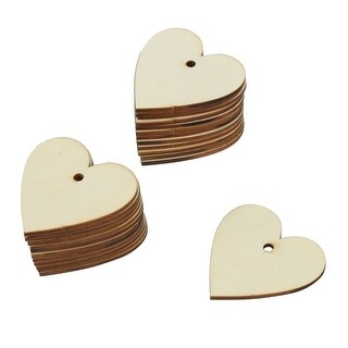 Family Wooden Love Heart Designed Decor DIY Wire Connector Handcraft Slice 25pcs