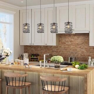 "Link to The Gray Barn Windy Bracken 1-light Pendant Bronze Rustic Kitchen Island Ceiling Light - D8""*H11"" Similar Items in Pendant Lights"
