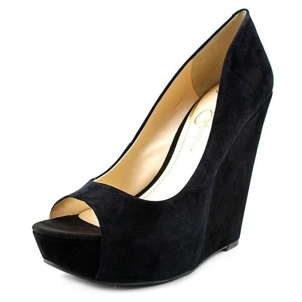 Jessica Simpson Bethani Open Toe Suede Wedge Sandal