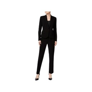Anne Klein Womens Pant Suit One-Button Professional