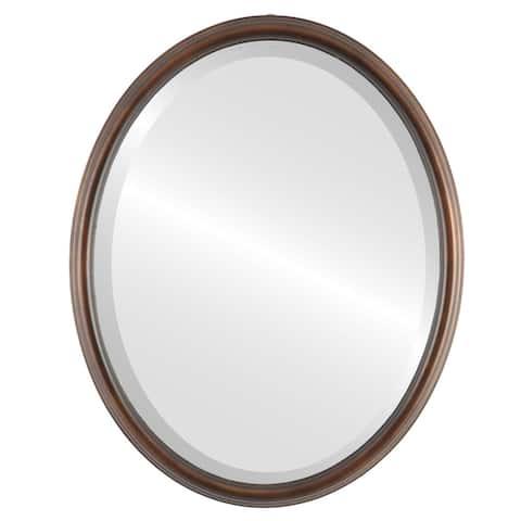 Hamilton Framed Oval Mirror in Rubbed Bronze Lip