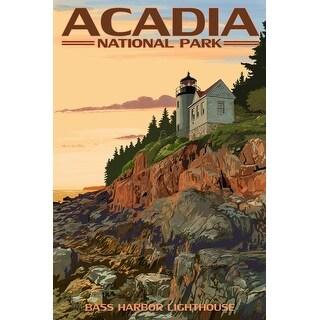 Acadia Park ME Bass Harbor Lighthouse - LP Artwork (Poker Playing Cards Deck)