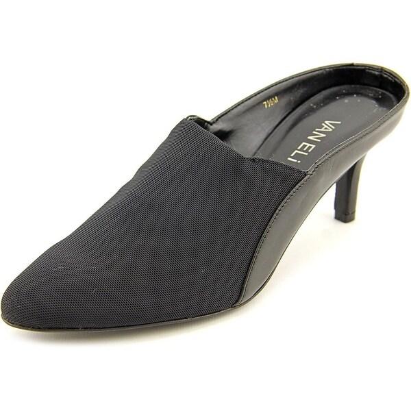 Vaneli Lezlie Women N/S Pointed Toe Canvas Black Mules