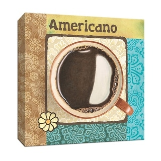 """PTM Images 9-153524  PTM Canvas Collection 12"""" x 12"""" - """"Americano"""" Giclee Coffee, Tea & Espresso Art Print on Canvas"""
