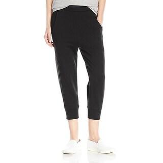 Vince NEW Black Women's Size Medium M Stretch Track Capris Pants