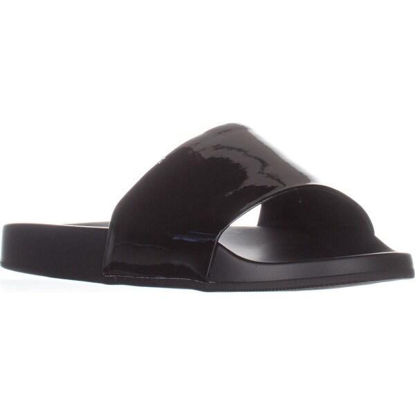 Aldo Maurizia Slide Sandals, Black Synthetic - 7.5 us / 38 eu