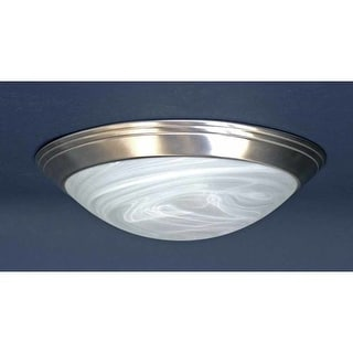 """Volume Lighting V7550 1 Light 12"""" Flush Mount Ceiling Fixture with White Alabaster Glass Dome Shade"""