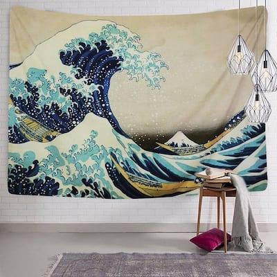 Wall Hanging Tapestries The Great Wave Kanagawa by Katsushika Hokusai Tapestry Wall Blanket Wall Home Decor