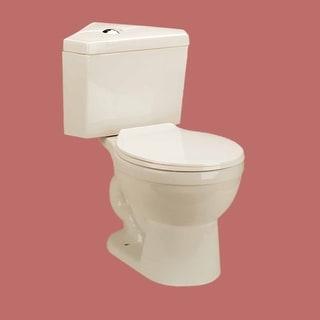 Corner Toilet Biscuit China Round Bowl Push Button Dual Flush Water Saver