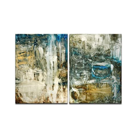 'Canyon Falls I/II' 2 Piece Wrapped Canvas Wall Art Set by Norman Wyatt Jr.