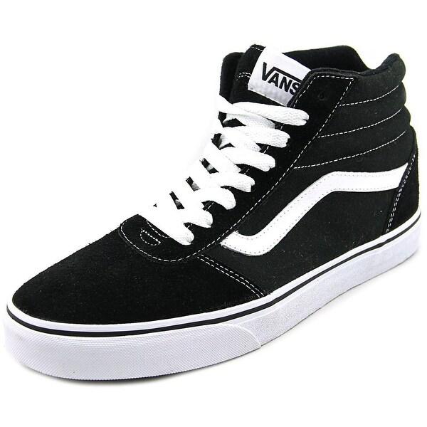 Vans Ward Hi Men Round Toe Canvas Black Skate Shoe