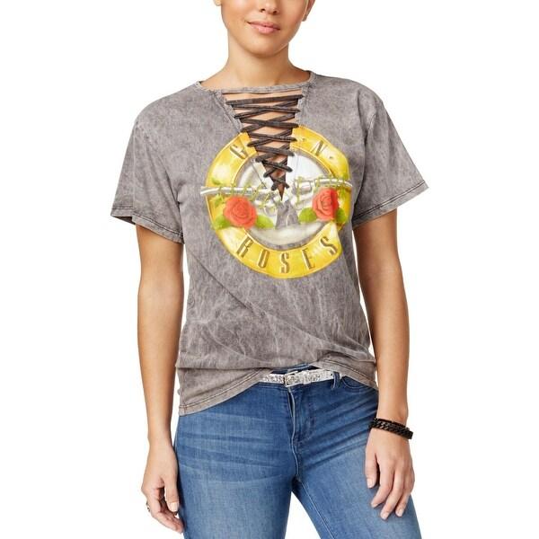 e32797ea6b Shop Bravado Womens Guns N Roses Graphic T-Shirt Lace-Up Pullover ...