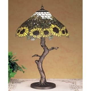 Meyda Tiffany 47632 Stained Glass / Tiffany Table Lamp from the Wild Sunflowers Collection