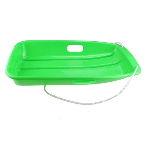 AGPtek_ Winter Durable Plastic Snow Sled Boat Shape Snow Sledge Outdoor Pulling Snow Board Snow Seats for Kids - SIZE