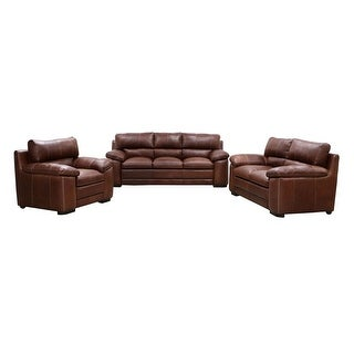 Ashanti Shakama BUSHVELD Genuine Full Aniline Pull-Up Leather Sofa Set - Mopani