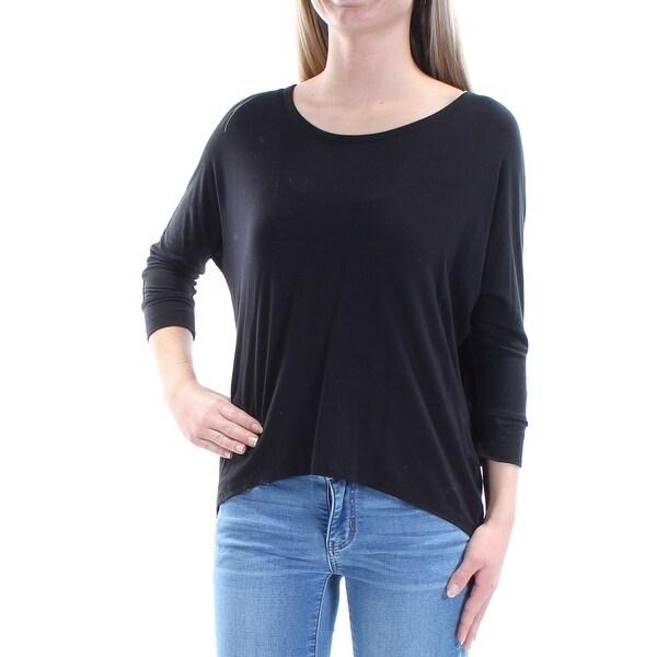 593bd5e49f25d Shop Womens Black Dolman Sleeve Jewel Neck Top Size XS - On Sale ...