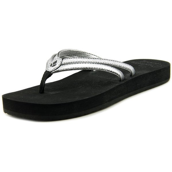 Reef Cushion Twin Women Open Toe Synthetic Silver Flip Flop Sandal