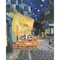 "Acrylic Paint Your Own Masterpiece Kit 11""X14""-Terrace At Night"