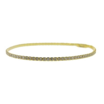 Gold Plated Sterling Silver Tennis Bracelet with Cubic Zirconia
