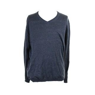 Weatherproof Vintage Indigo V-Neck Slub Sweater M