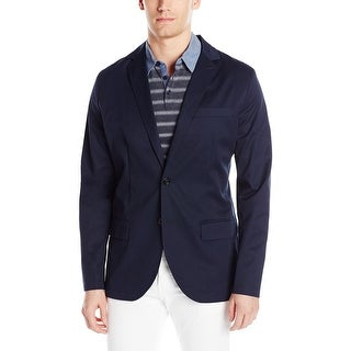 Nautica NEW Navy Blue Mens Size Large L Seamed Two Button Shirt