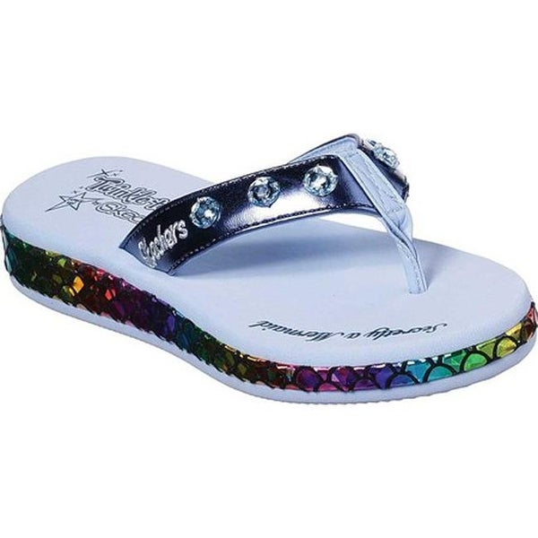 d8dd9fe5cf8d Shop Skechers Girls  Twinkle Toes Sunshines Mermaid Dreams Thong Sandal  Navy Multi - Free Shipping On Orders Over  45 - Overstock - 27348292