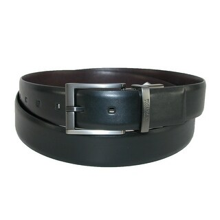 Kenneth Cole Reaction Men's Big & Tall Feather Edge Reversible Belt Buckle