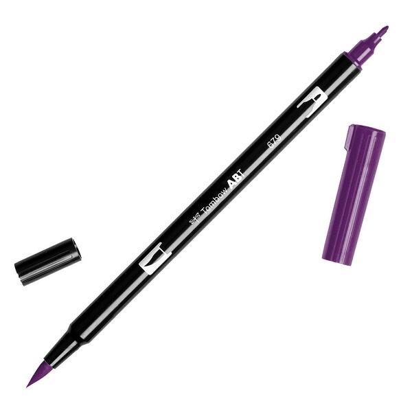 Tombow Dual Brush Marker Open Stock-679 Dark Plum