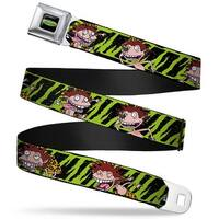The Wild Thornberry's Logo Full Color Donnie Thornberry Wild Poses Stripe Seatbelt Belt