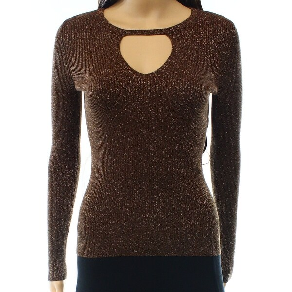 Shop Inc New Brown Bronze Womens Size Large L Keyhole Shimmer