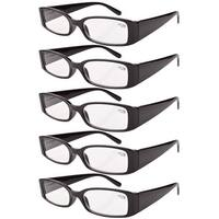 Eyekepper Spring Hinge Reading Glasses Readers Women Black +4.0