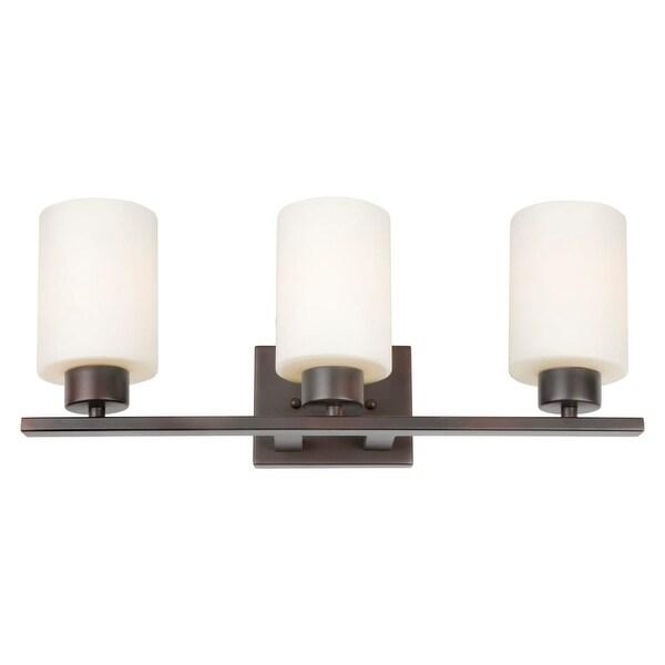 Forte Lighting 5186 03 3 Light 21 Wide Bathroom Vanity With Satin