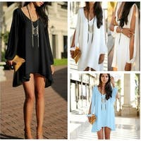 Temptation Tunic Top With Long Cutout Sleeves