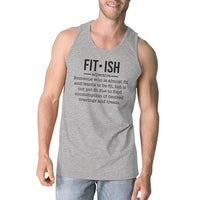 40382acaa65985 Shop Fit-ish Womens Grey Cute Saying Tank Top Gag Workout Gift For ...