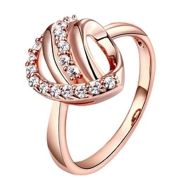 Double Knot Rose Gold Crystal Ring